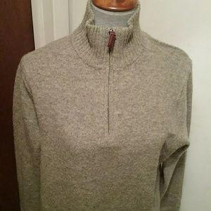 J. Crew Sweaters - Men's medium zip-up lambs wool sweater.